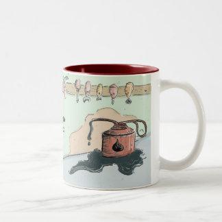 Rusty Robot Two-Tone Coffee Mug