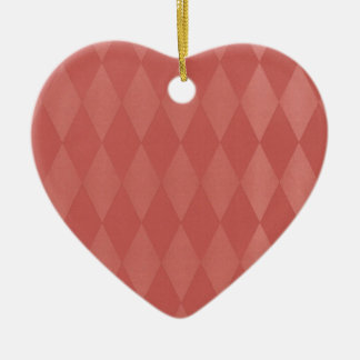 Rusty Salmon Harlequins Ceramic Heart Decoration