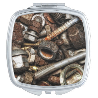 Rusty screws compact mirror