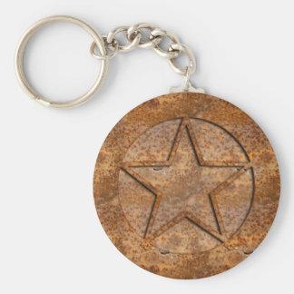Rusty Star Key Chain