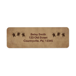Rusty Stars Address Label