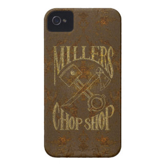Rusty Steel Logo with Rivets iPhone 4 Case