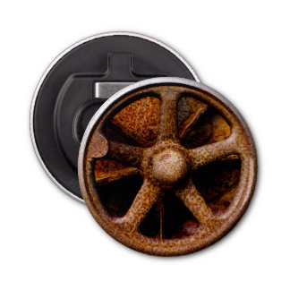 Rusty Submarine Hatch Wheel Bottle Opener