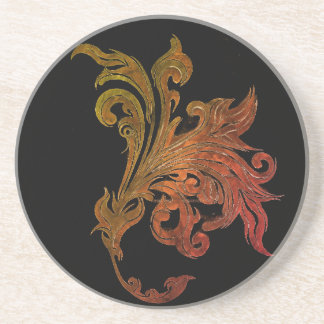 RUSTY TATTOO LILY SANDSTONE COASTER
