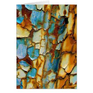 Rusty Teal Blue Wall Greeting Card