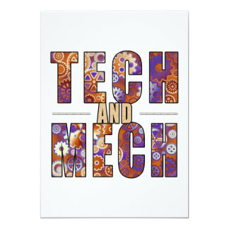 Rusty Tech and Mech Personalized Announcements