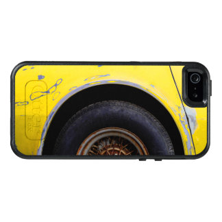 Rusty Tire, Peeling Yellow Painted Car OtterBox iPhone 5/5s/SE Case