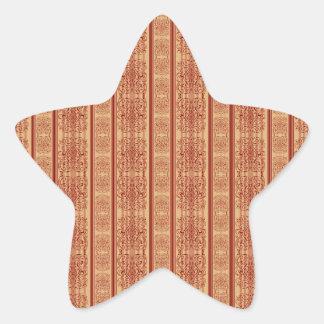 rusty vintage striped damask pattern stickers