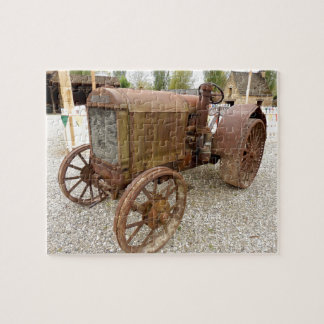 Rusty vintage tractor jigsaw puzzle
