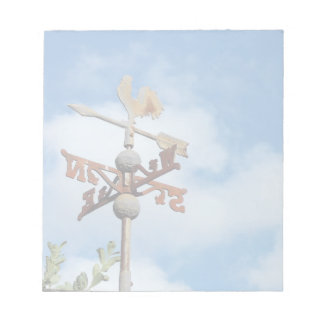 Rusty Weathervane against blue sky Notepad