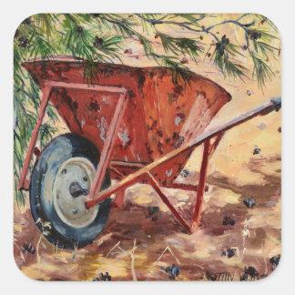 Rusty Wheelbarrow 2009 Square Sticker
