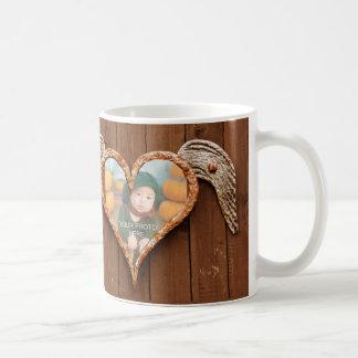 Rusty Winged Heart Photo Frame Mouse Pad Basic White Mug