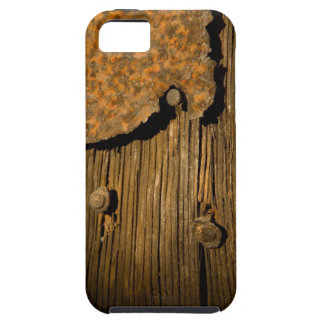 Rusty wood background iPhone 5 cases