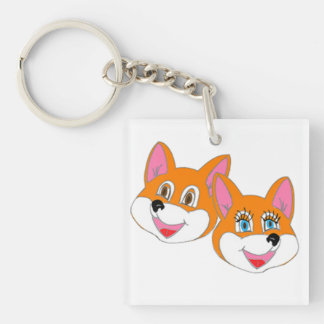 "Rustyfoxes ""color customizable"" Key Chain"