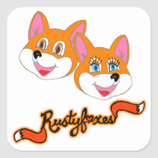 """Rustyfoxes """"customizable"""" Stickers"""
