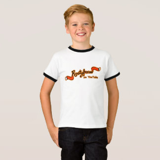 Rustyfoxes On YouTube Kid's Basic Ringer Shirt