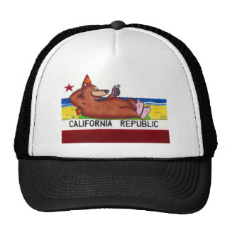 Rusty's California Bear Flag Mesh Hat