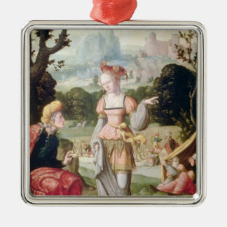Ruth and Naomi in the field of Boaz, c.1530-40 Christmas Ornament