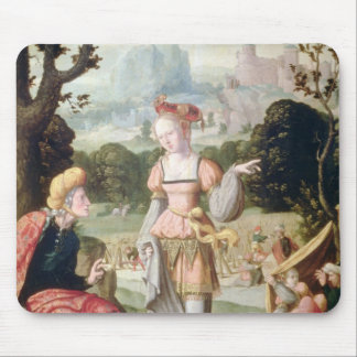 Ruth and Naomi in the field of Boaz, c.1530-40 Mouse Mat
