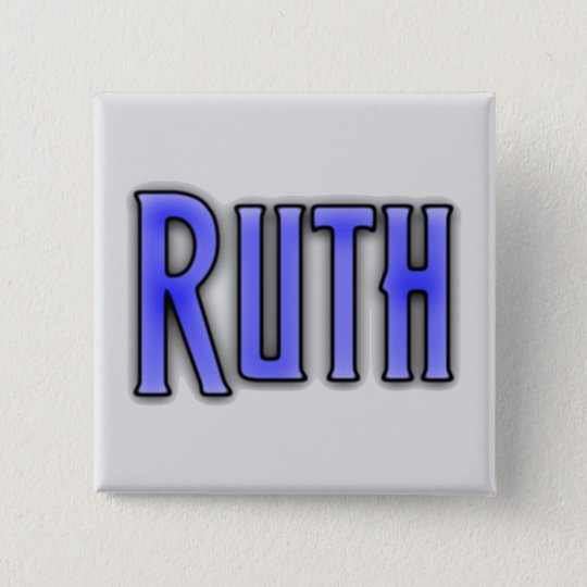 RUTH, for Ruth 15 Cm Square Badge