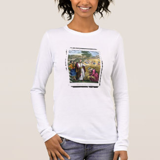 Ruth in the Field of Boaz, from a bible printed by Long Sleeve T-Shirt
