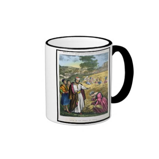 Ruth in the Field of Boaz, from a bible printed by Mugs