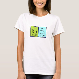 Ruth periodic table name shirt