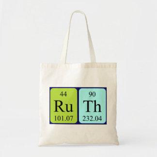 Ruth periodic table name tote bag