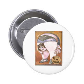Ruth the Acrobat 6 Cm Round Badge