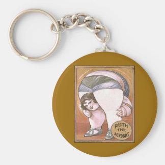 Ruth the Acrobat Basic Round Button Key Ring