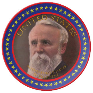 rutherford b hayes 19th president plate
