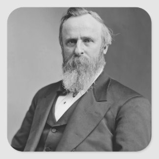 Rutherford B. Hayes Square Stickers