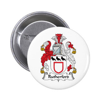Rutherford Family Crest 6 Cm Round Badge