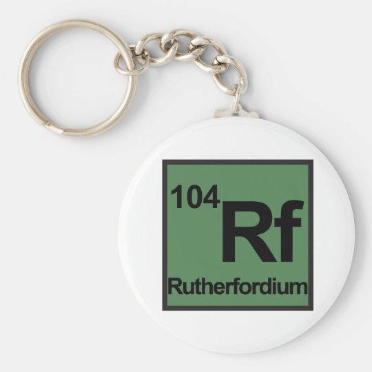 Rutherfordium Keychain