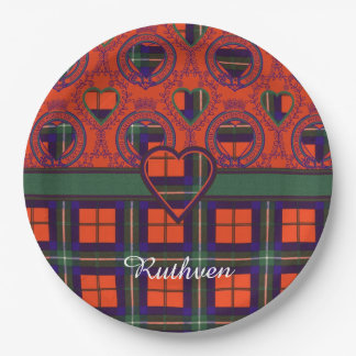 Ruthven clan Plaid Scottish tartan Paper Plate