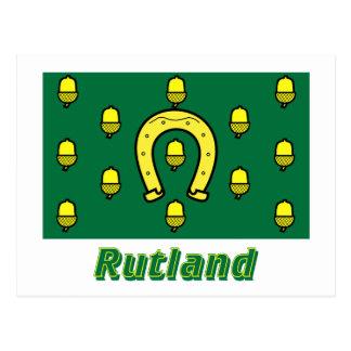 Rutland Flag with Name Postcard