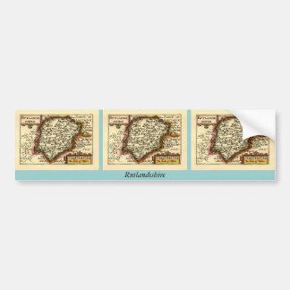 """""""Rutlandeshire"""" (Rutlandshire) Rutland County Map Bumper Sticker"""