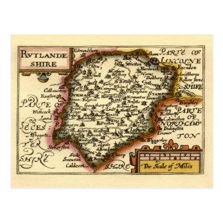 """Rutlandeshire"" (Rutlandshire) Rutland County Map Postcard"