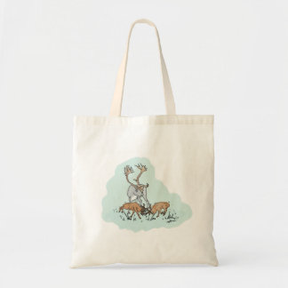 Rutting Dwarf Red Deer with Reindeer Tote Bag
