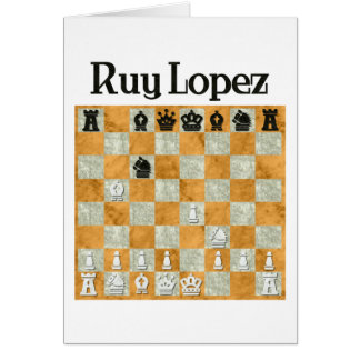 Ruy Lopez Greeting Card