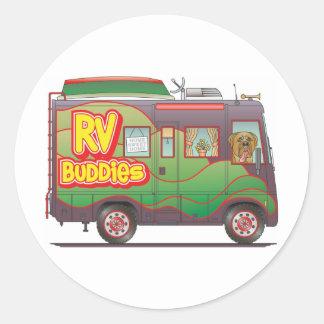 RV Buddies Camper Trailer RV Classic Round Sticker