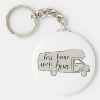 RV/Camper Keychain, Tiny House, Handlettered Key Ring