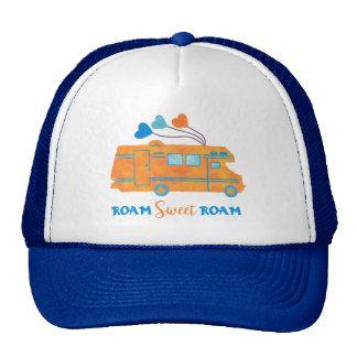 RV Camper Motorhome Roam Sweet Roam Vacation Cap