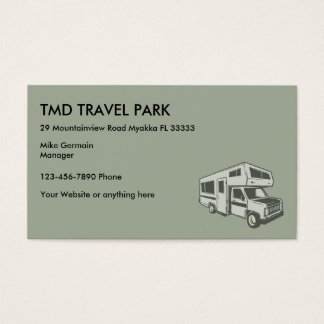 RV Camper Travel Park Business Card