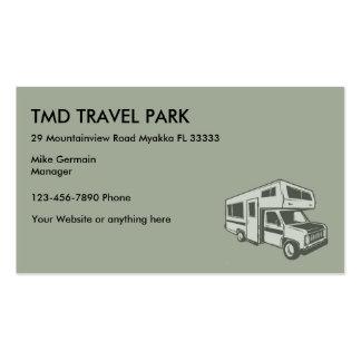 RV Camper Travel Park Pack Of Standard Business Cards