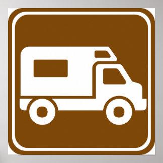 RV Campground Highway Sign