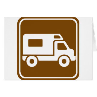 RV Campground Highway Sign Card