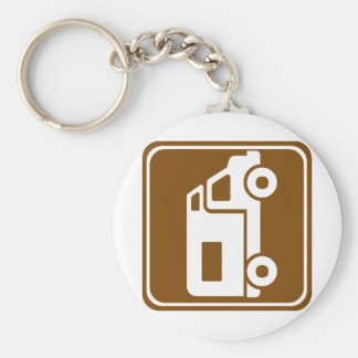 RV Campground Highway Sign Key Ring