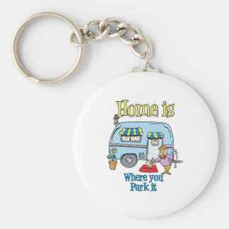 Rv Camping Basic Round Button Key Ring