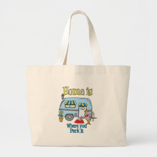 Rv Camping Large Tote Bag